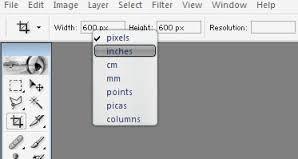 Print size Image size