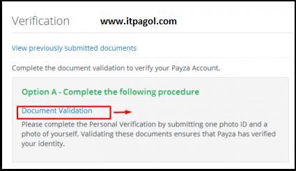 Document Validation অপশনটি বেছে নিন।