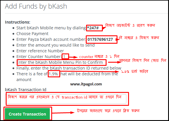 Add Funds by bKash
