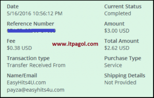 Easyhits payment proof